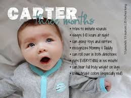 3 Months Old Baby Development Chart Monthly Milestones 3 Month Old Custom Baby Stats Print And
