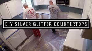 silver glitter countertop coating leggari s diy countertop kit