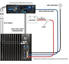 kicker car stereo amplifier wiring diagram diagrams inside amp audio High Level Speaker Input Wire at High Level Input Wiring Diagram