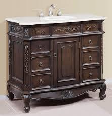 Traditional 40 Inch White Quartz Counter Bathroom Vanity