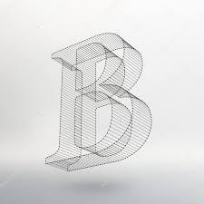 文字背景のベクトル イラストメッシュは多角形のフォントワイヤー