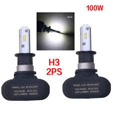 Ebay Light Bulb Camera 2pcs Super Bright Cob H3 S1 8000lm 100w Led Car Headlight Fog Light Lamp Bulb Ebay