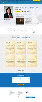 Memorial Website Design Entry 14 By Makkina For Online Memorial Website Design