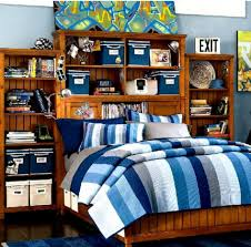 teen boy bedroom sets. Awesome Teenagers Boy Bedroom Ideas : Astonishing Wooden Bed Set With Built In Bookshelf Design And Teen Sets