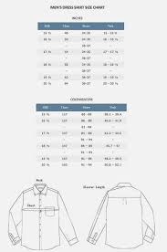 Dress Shirt Size Chart Stafford Dress Shirt Size Chart Best Picture Of Chart