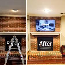 tv mounted on brick fireplace lexington cky