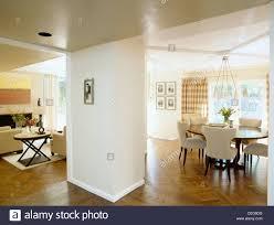 Offenen Esszimmer Und Wohnzimmer Mit Parkett Holzboden Und