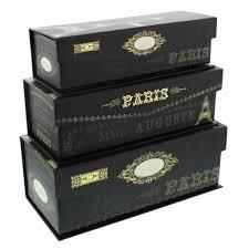 Decorative Storage Box Sets Pretty Storage Boxes Set of 100 TriCoastal Paris Nights 32
