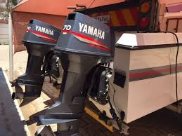 505 ace cat with 2x70hp yamaha outboard motors on galvanised break neck trailer