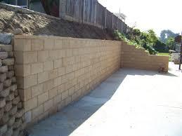 cinder block wall minimalist concrete block retaining wall