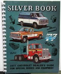 Chevrolet Truck Dealer Silver Book Special Bodies & Equipment ...