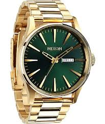 17 best ideas about nixon watches men s watches nixon sentry ss gold green analog watch
