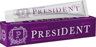 <b>Зубная паста</b> PresiDENT Exclusive, для комплексного <b>ухода</b>, 75 ...
