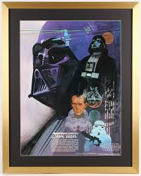 vintage 1977 coca cola star wars 24x30 custom framed poster display