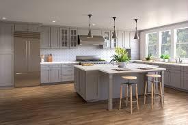 heather graphite grey shaker rta kitchen cabinets