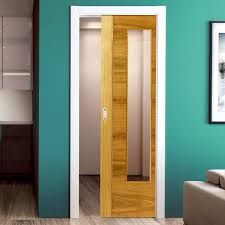 single pocket doors. glorious glass pocket door brisa mistral oak single clear prefinished doors