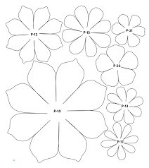 Flower Templates For Paper Flowers 61e5f8 Flower Paper Template Digital Resources