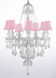 white crystal chandelier with shades to enlarge