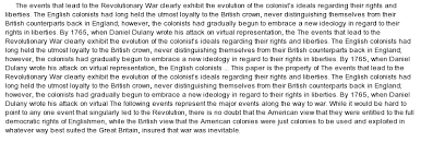 the american revolution essay