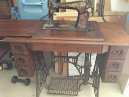 Treadle Sewing Machine Cabinet Quilters Quarters Vintage And Antique Sewing Machines