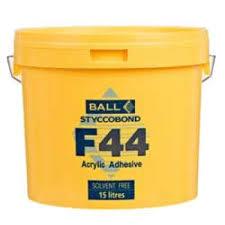 fball f44 acrylic flooring adhesive 15ltr tub just 59 00per tub