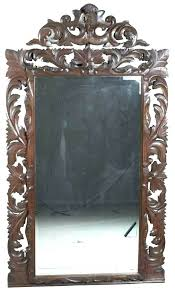 wood wall mirrors. Antique Wood Framed Mirrors Carved Wall Mirror Oak Large Tall
