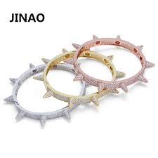 Luxury Iced Out Bling Cubic Zircon <b>Hip Hop Rose Gold</b> Silver Rivet ...