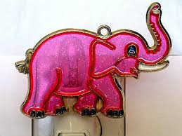 stained glass style elephant night light great gift for all