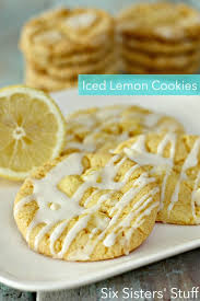 Iced Lemon Cake Mix Cookies Six Sisters Stuff