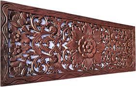See more ideas about bali decor, bali, balinese garden. Amazon Com Bali Tropical Floral Leaf Carved Wood Wall Panel Size 35 5 X13 5 Asiana Home Decor Brown Red Mahogany Everything Else