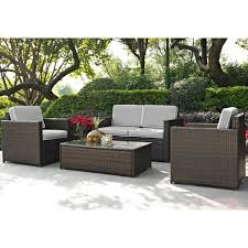 wicker furniture. Unique Wicker Gray And Brown 4 Piece Wicker Furniture Set  Palm Harbor  RC Willey  Store To 0