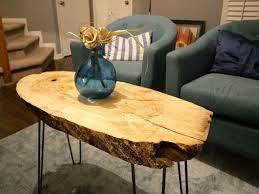 wood slice coffee table best of diy live edge wood slab coffee