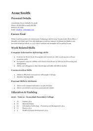 Examples Of Teenage Resumes Resume Examples For Teenager Examples Teenage Resumes Examples Of 2