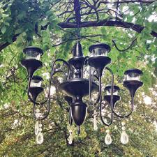 solar powered outdoor chandelier