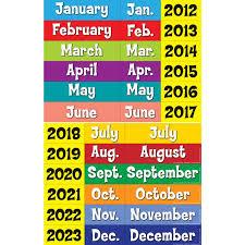 Yellow Calendar Pocket Chart Space Saver Calendar Pocket Chart