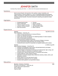 how to create a student resumes best chemist resume example livecareer