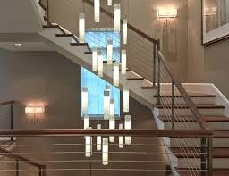 modern stairwell lighting. Light For Staircase Chandelier Contemporary Living Room Stairwell Fixture Modern Lighting Z