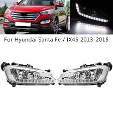 2013 Santa Fe Fog Light Replacement Details About For Hyundai Ix45 Santa Fe 13 15 Led Drl Daytime Driving Running Lamp Fog Lights
