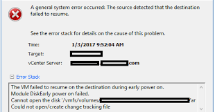 Ken Umemoto's vReality: vMotion Error: A general system error occurred: The source  detected that the destination failed to resume.