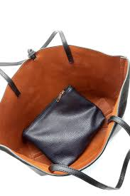street level faux leather reversible tote back cropped image