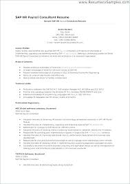 Sap Sample Resumes Lovely Sample Resume With Sap Experience For Outstanding Sap Fresher