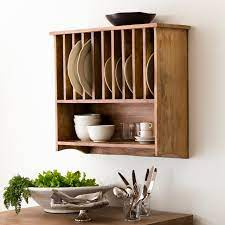 wall mounted plate rack traditional