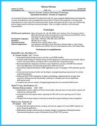 Business Systems Analyst Resume Template - Resume Builder