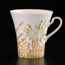 unique gift idea two hand painted cups inspired by gustav klimt jpg