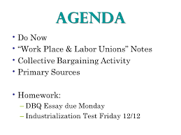 "agenda do now ""work place labor unions"" notes collective  1 agenda"