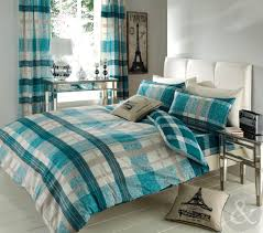 just contempo striped check duvet cover reversible bedding cotton blend modern bed set co uk kitchen home