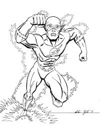 Teen Titans Kid Flash Coloring Pages With Page - creativemove.me