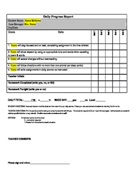 Positive Behavior Charts For Middle School Daily Behavior Point Sheet Management System Editable Positive Middle School