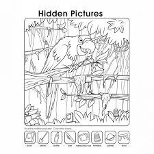 Hidden Pictures Worksheet Free   Kiddo Shelter