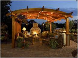 when in doubt about pergola lighting simply go for string lights as they can never go wrong